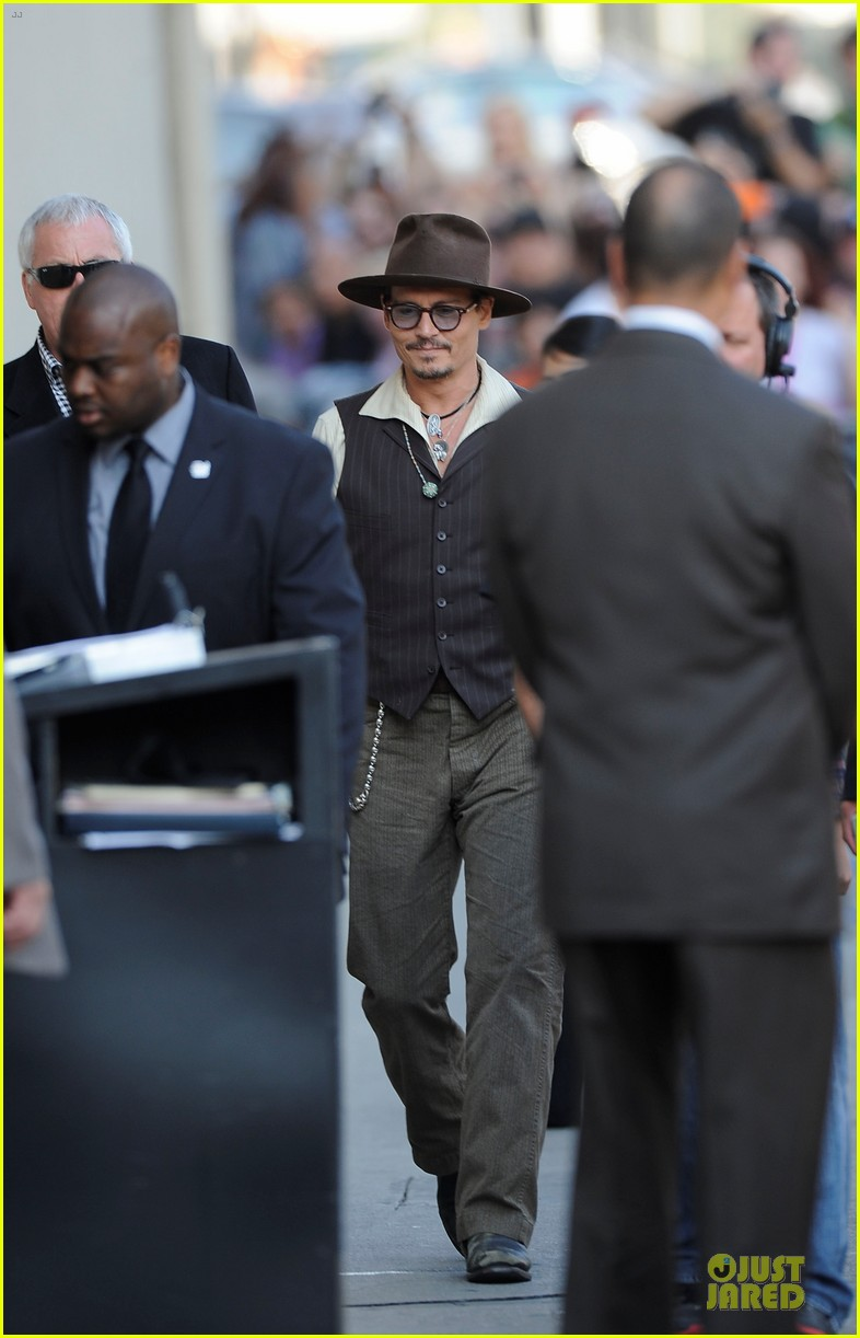 johnny depp lone ranger promotion on jimmy kimmel live 052902365