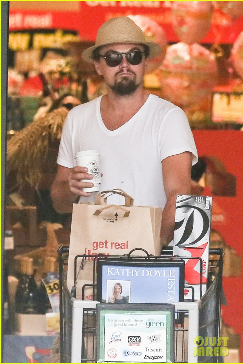 leonardo dicaprio fourth of july grocery shopping 012903992