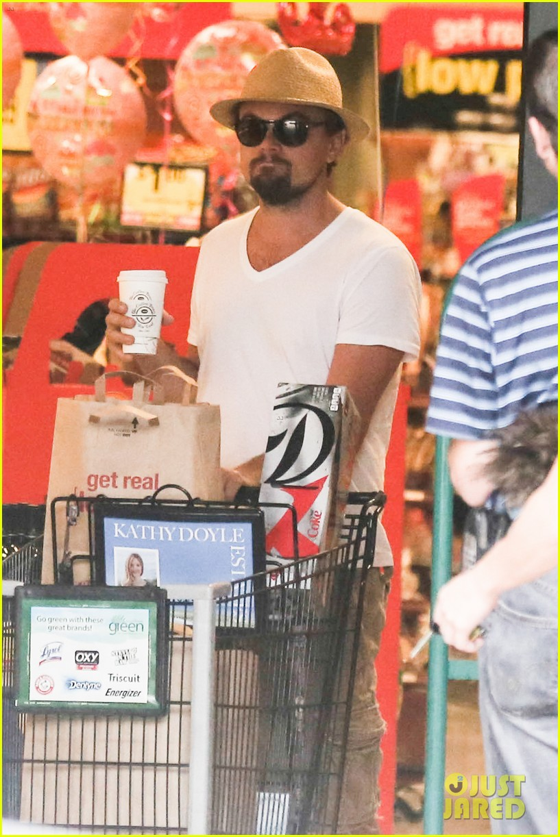 leonardo dicaprio fourth of july grocery shopping 052903996