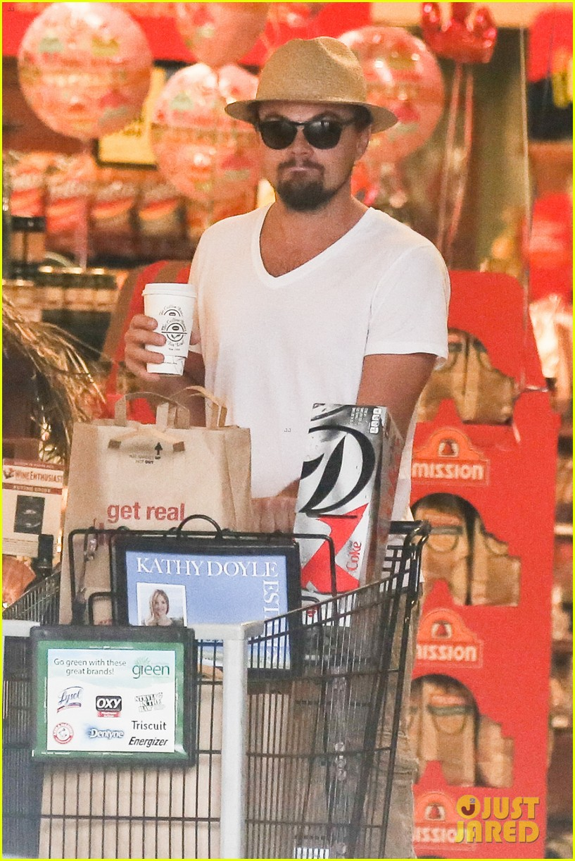 leonardo dicaprio fourth of july grocery shopping 062903997