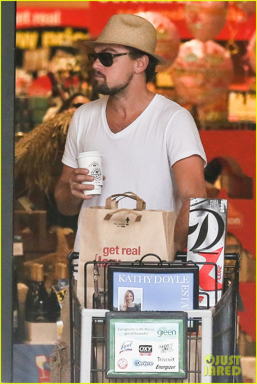 leonardo dicaprio fourth of july grocery shopping 082903999