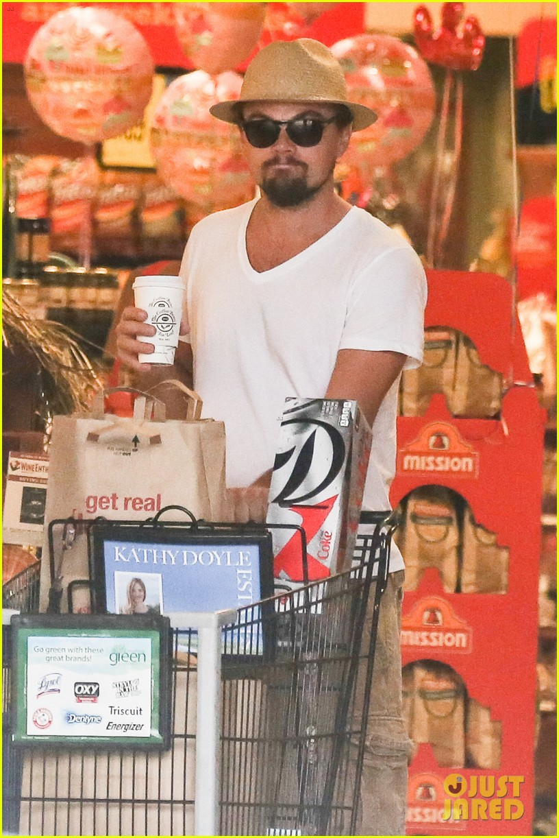 leonardo dicaprio fourth of july grocery shopping 12