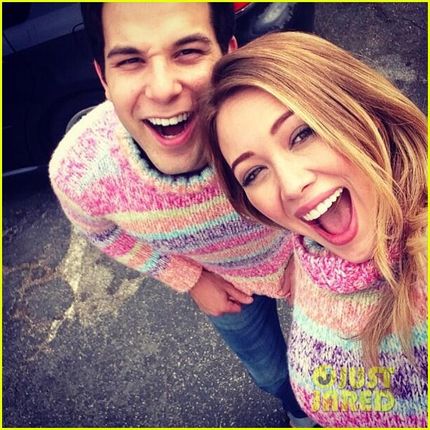 hilary duff bootsy bellows babe with mike comrie 022908860