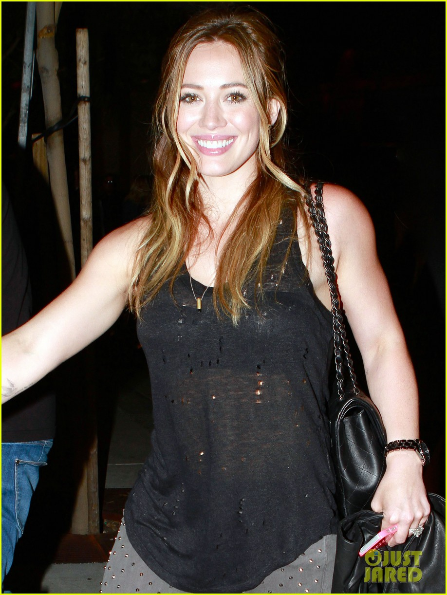 hilary duff bootsy bellows babe with mike comrie 092908867