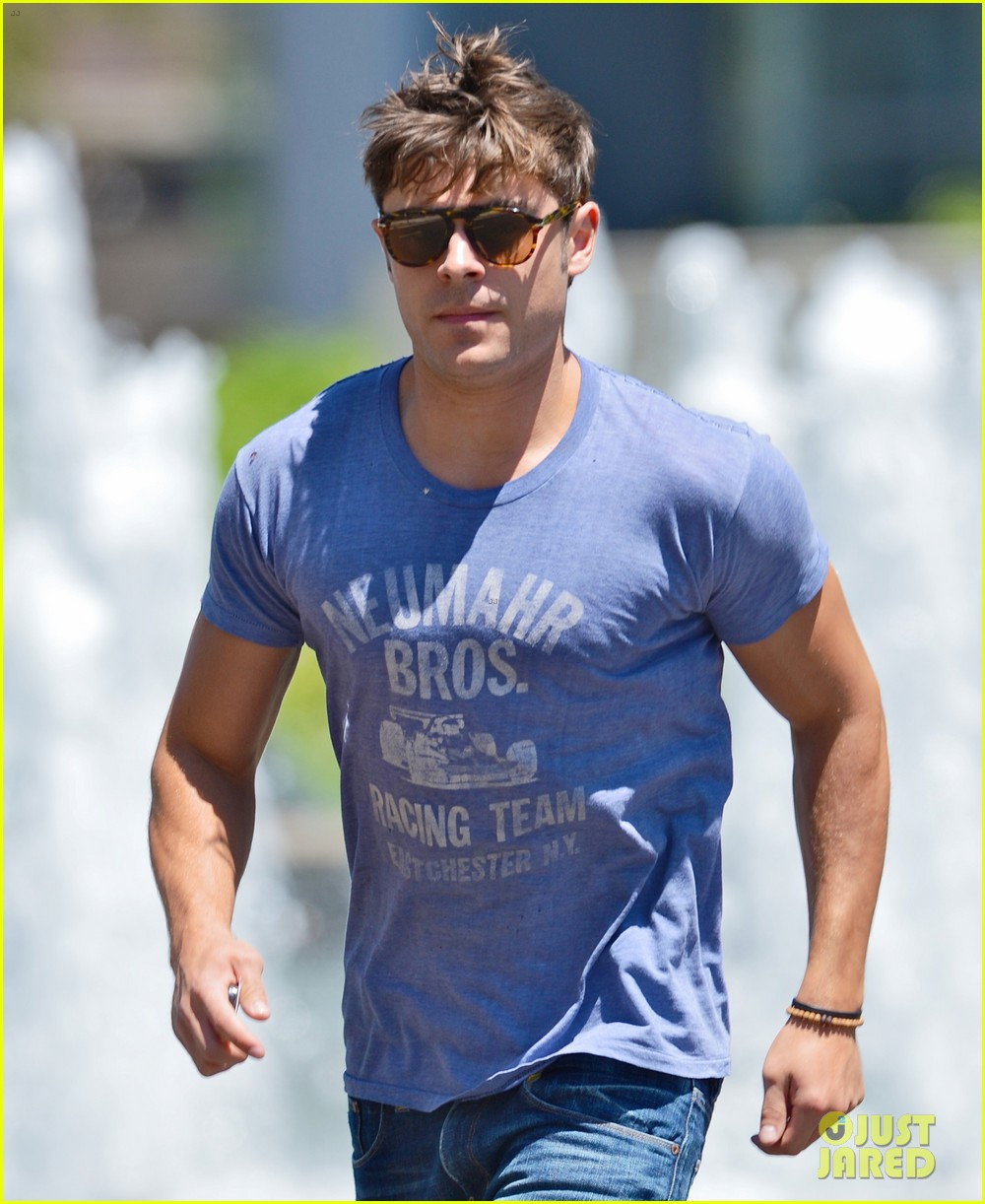 zac efron leaps into action for hotel entrance 052911015