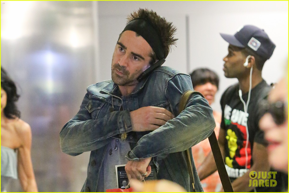 colin farrell spiky hair headband for lax look 042911310