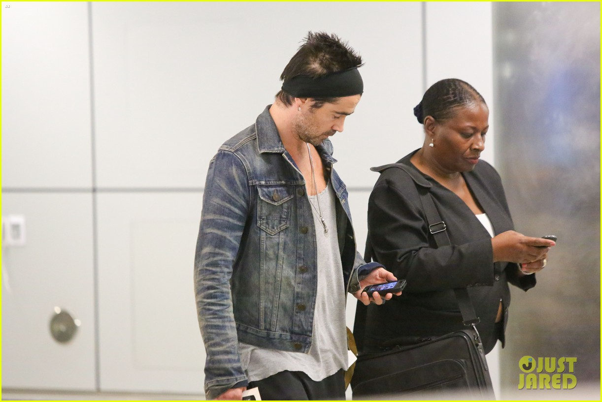 colin farrell spiky hair headband for lax look 072911313