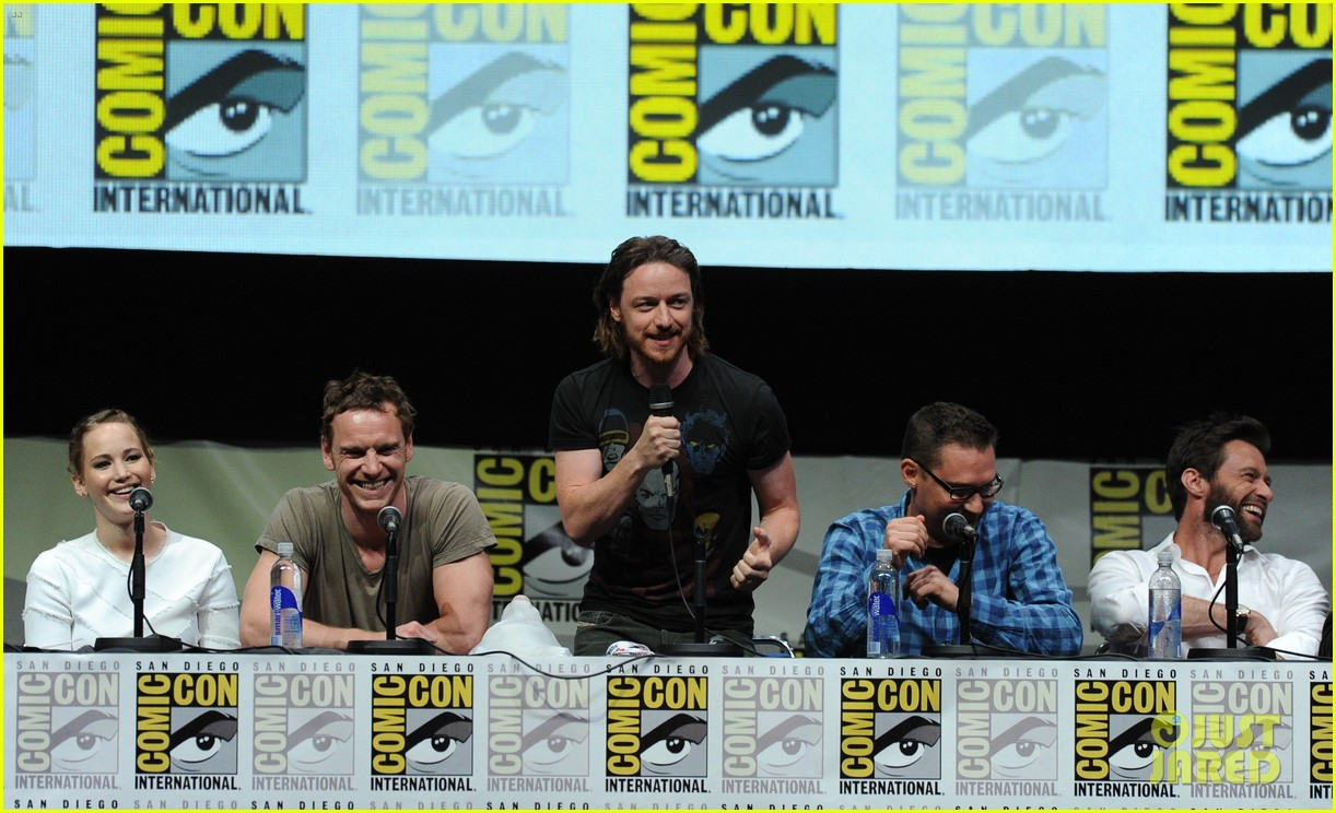 michael fassbender james mcavoy x men at comic con 17