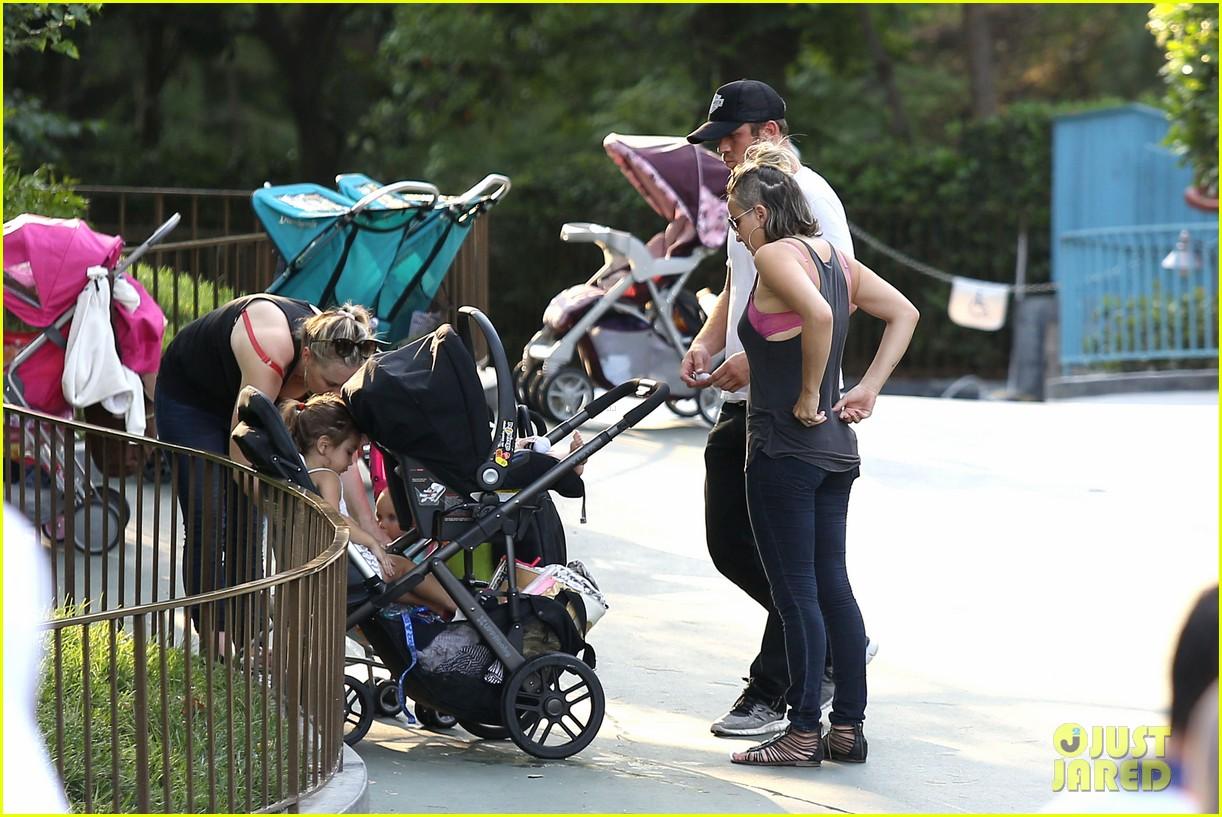 cam gigandet debuts baby rekker on family disney trip 312902560