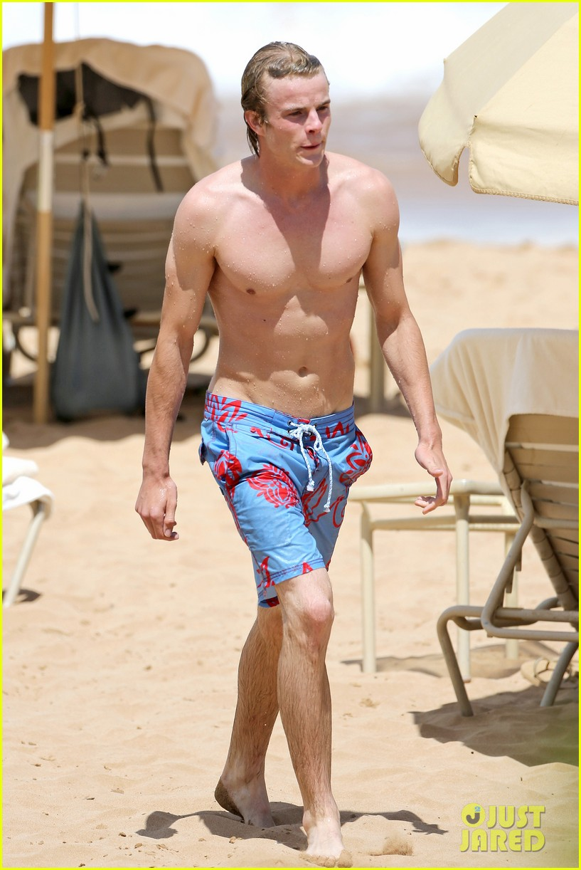 lucy hale more beach fun with shirtless graham rogers 032902596
