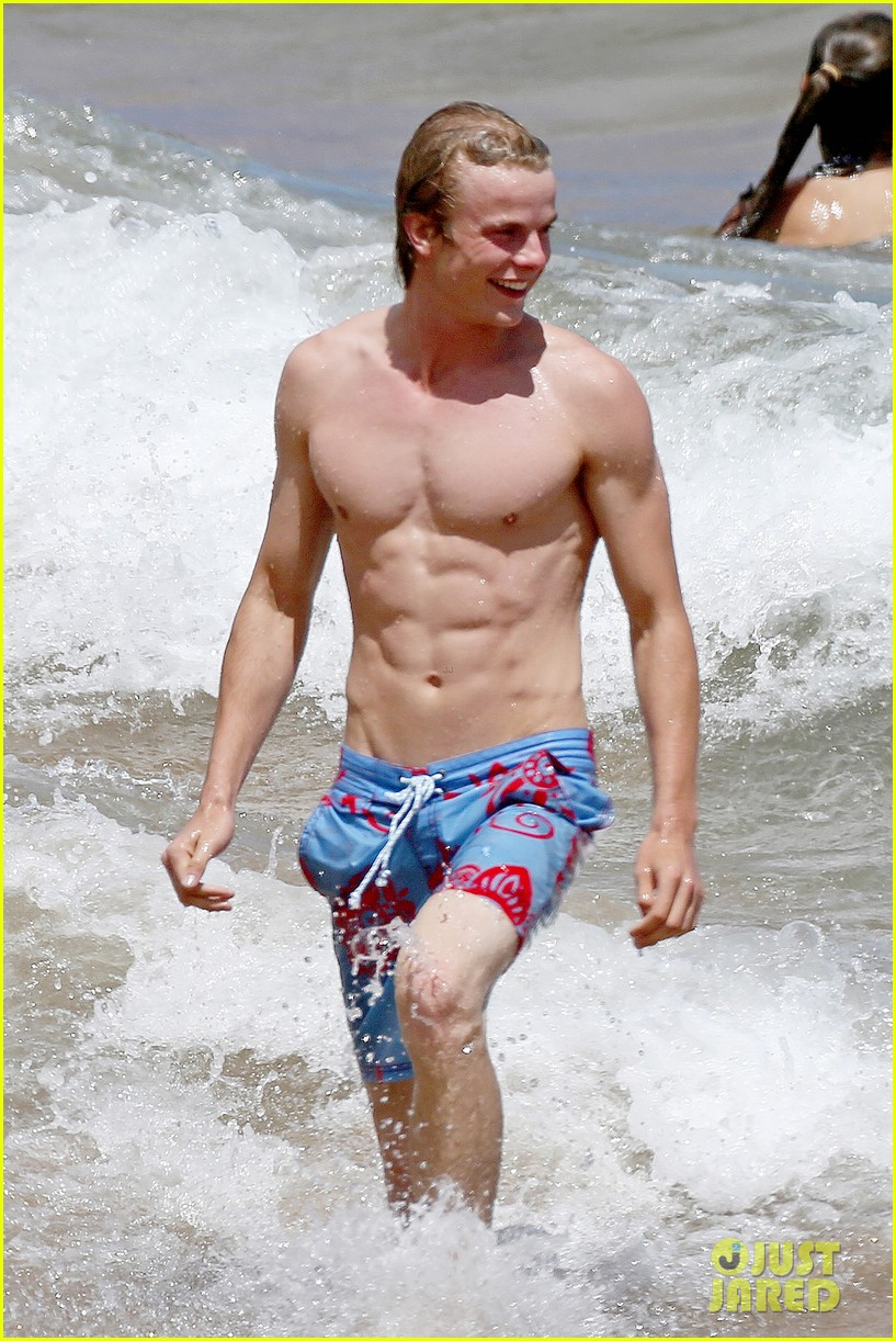 lucy hale more beach fun with shirtless graham rogers 052902598