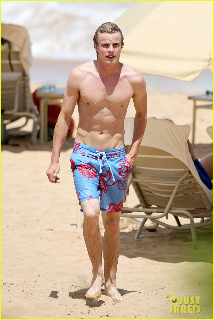 lucy hale more beach fun with shirtless graham rogers 092902602