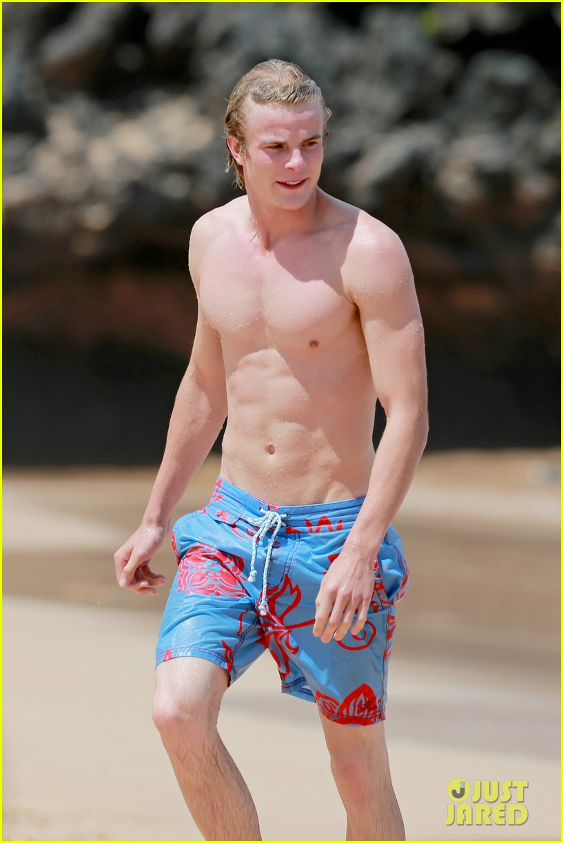 lucy hale more beach fun with shirtless graham rogers 162902609