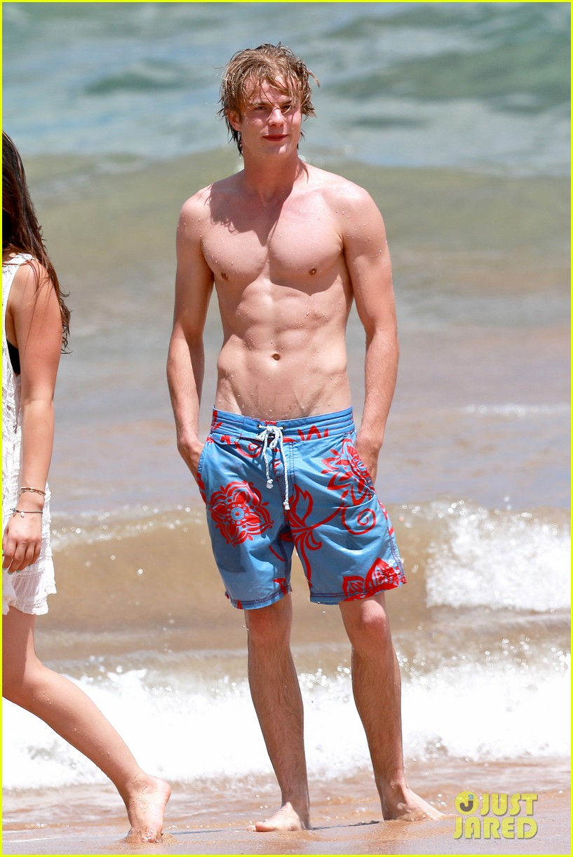 lucy hale more beach fun with shirtless graham rogers 17