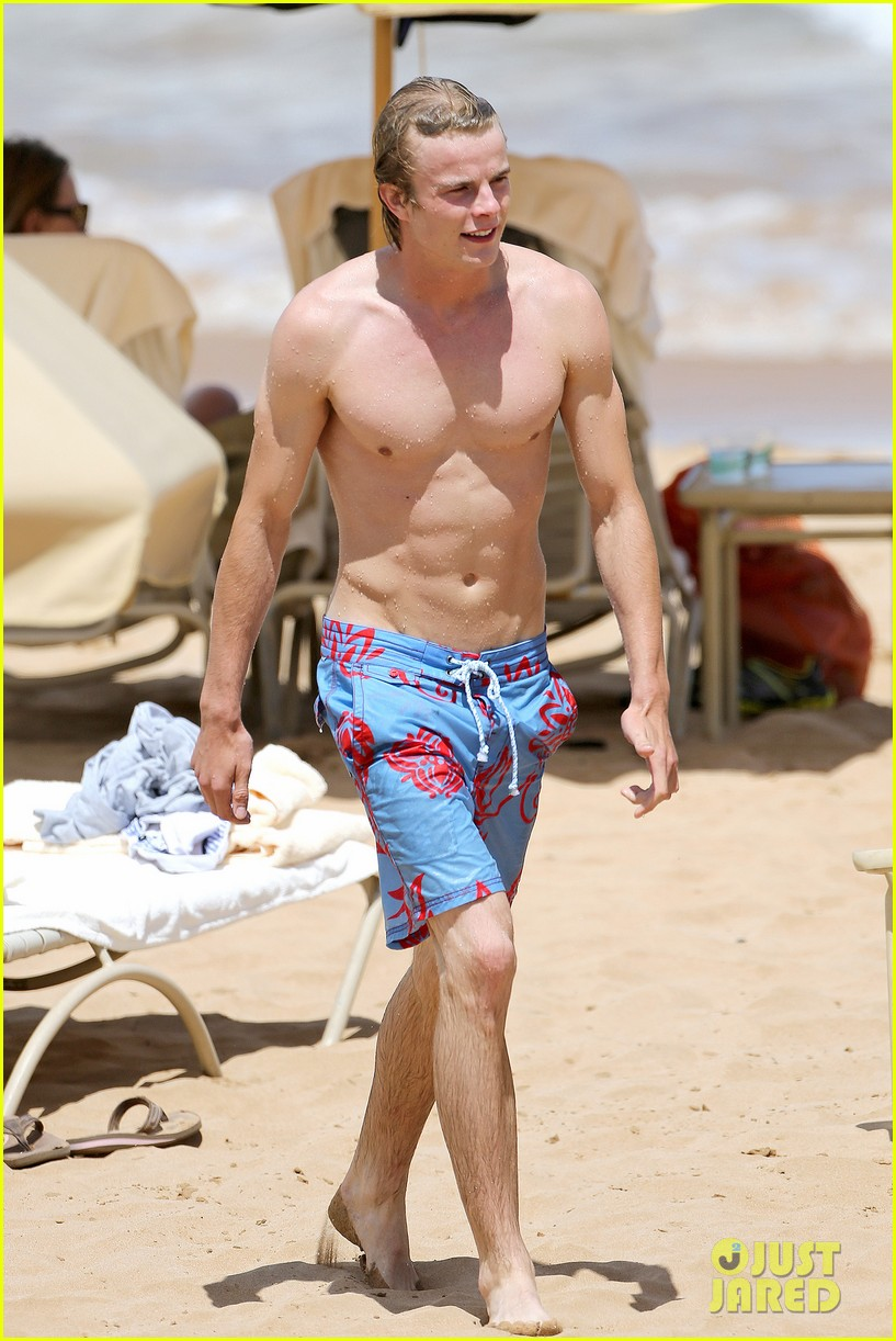 lucy hale more beach fun with shirtless graham rogers 192902612