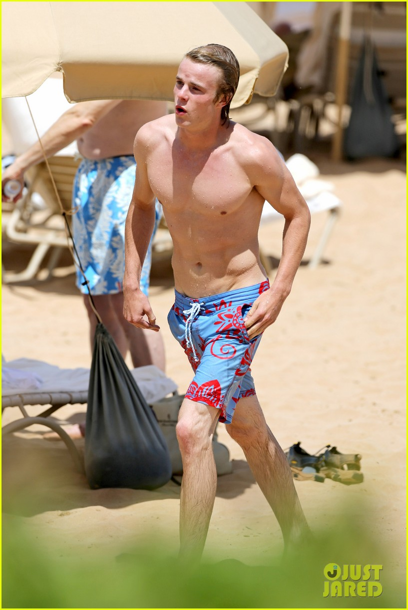 lucy hale more beach fun with shirtless graham rogers 212902614