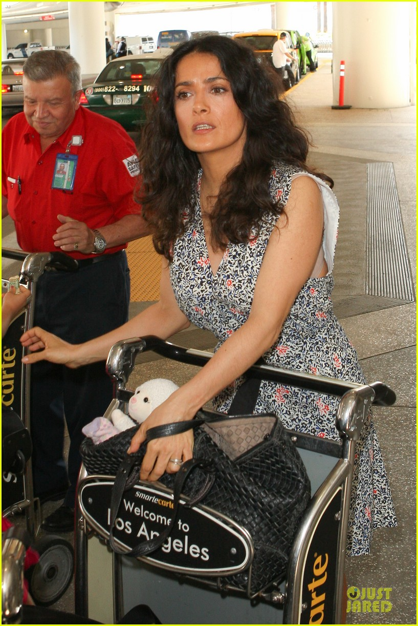 salma hayek valentina lax arrival before grown up 2 promotion 042902399