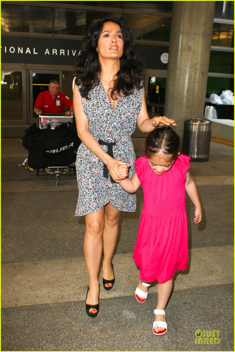 salma hayek valentina lax arrival before grown up 2 promotion 062902401