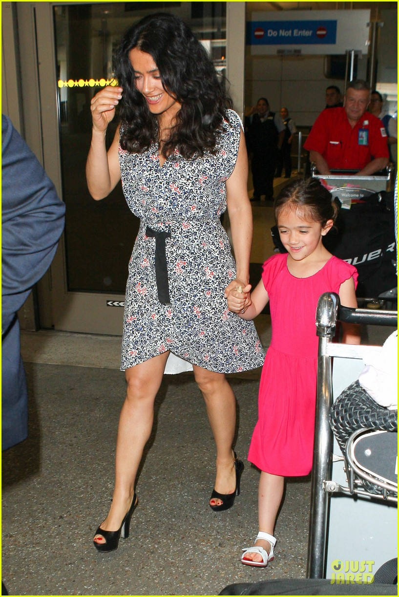 salma hayek valentina lax arrival before grown up 2 promotion 082902403