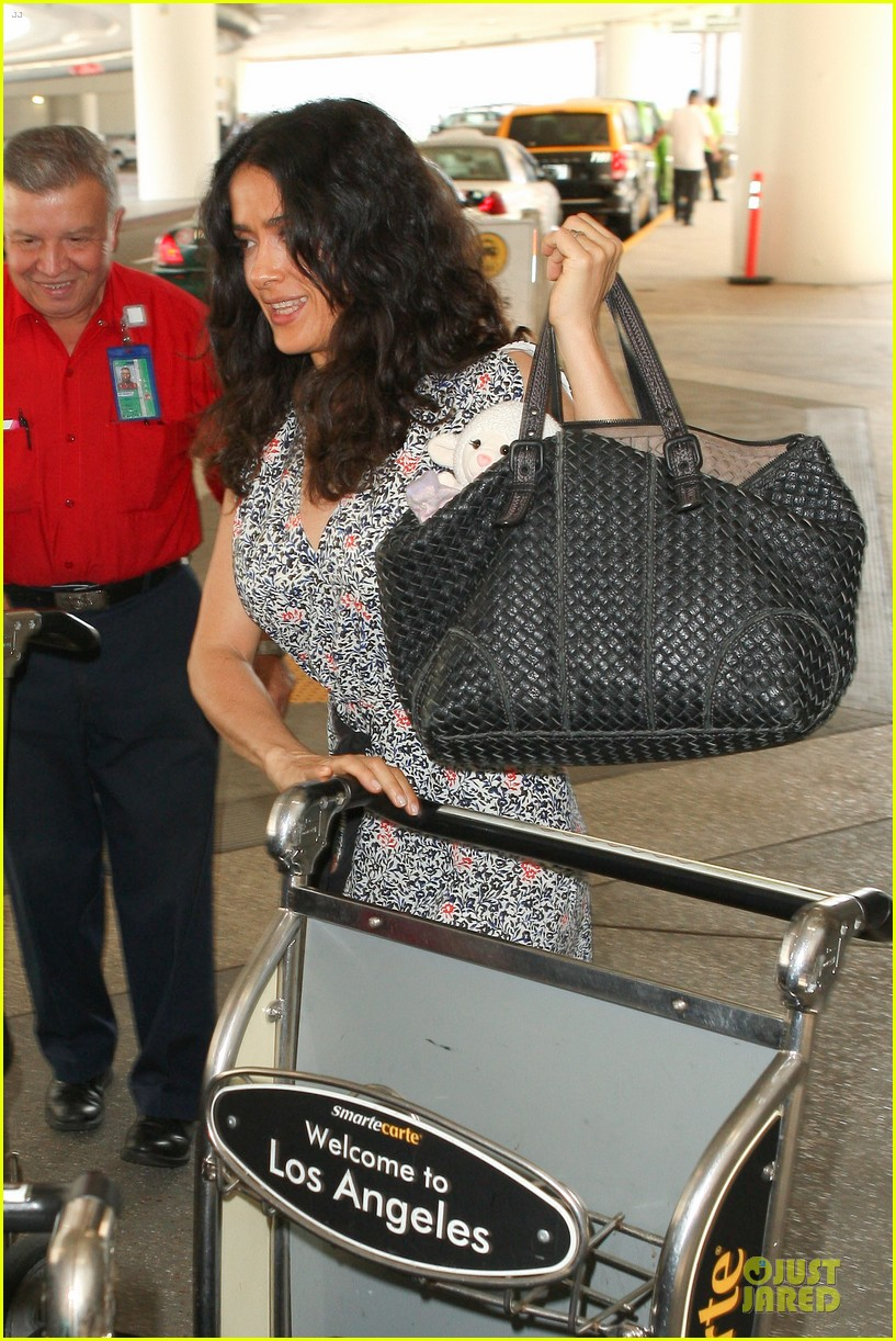salma hayek valentina lax arrival before grown up 2 promotion 09