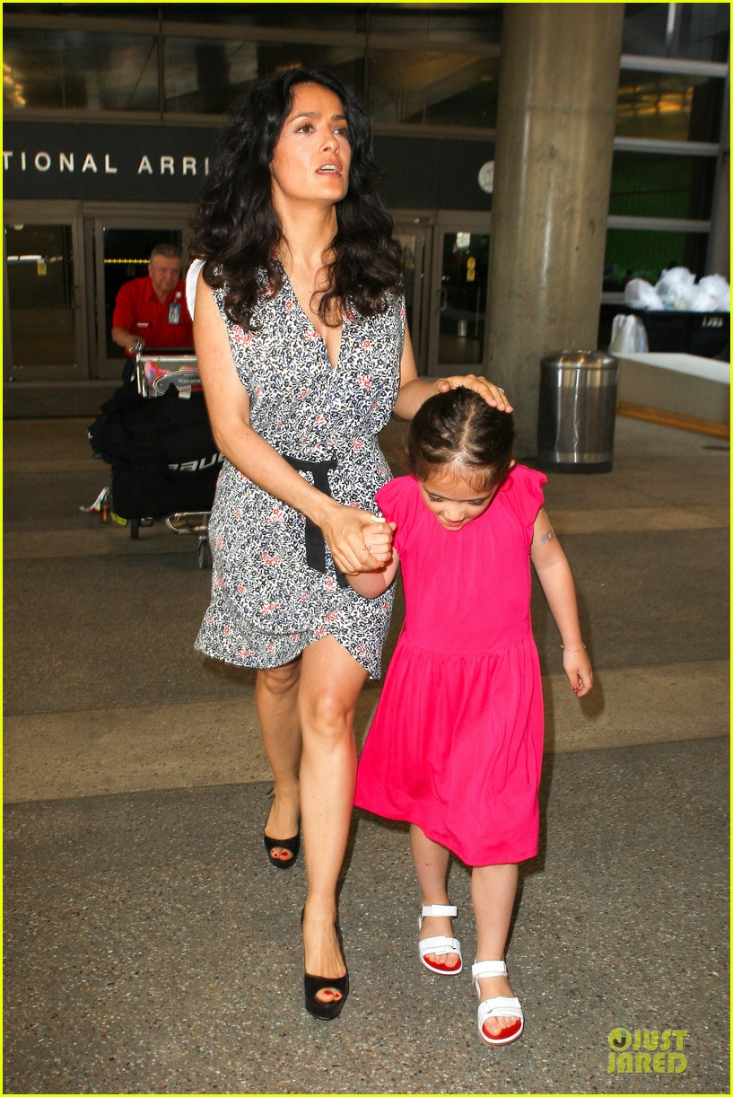 salma hayek valentina lax arrival before grown up 2 promotion 102902405