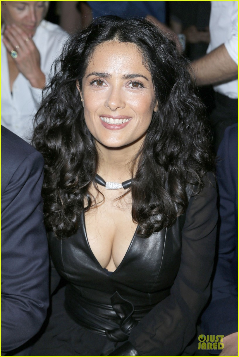 salma hayek francois henri pinault yves saint laurent paris fashion show 062901810
