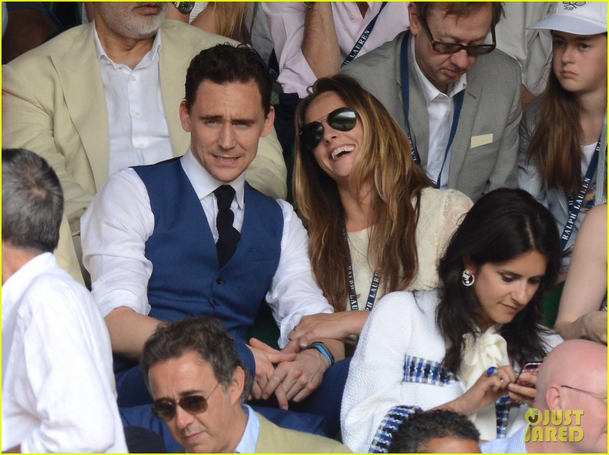 tom hiddleston wimbledon finals with jane arthy 012905974