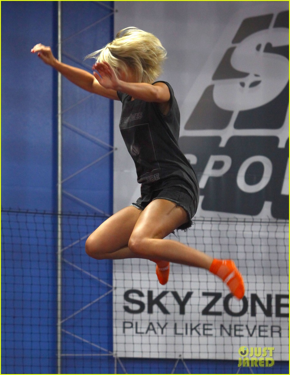 julianne hough tumbles in the air at trampoline park 022908426