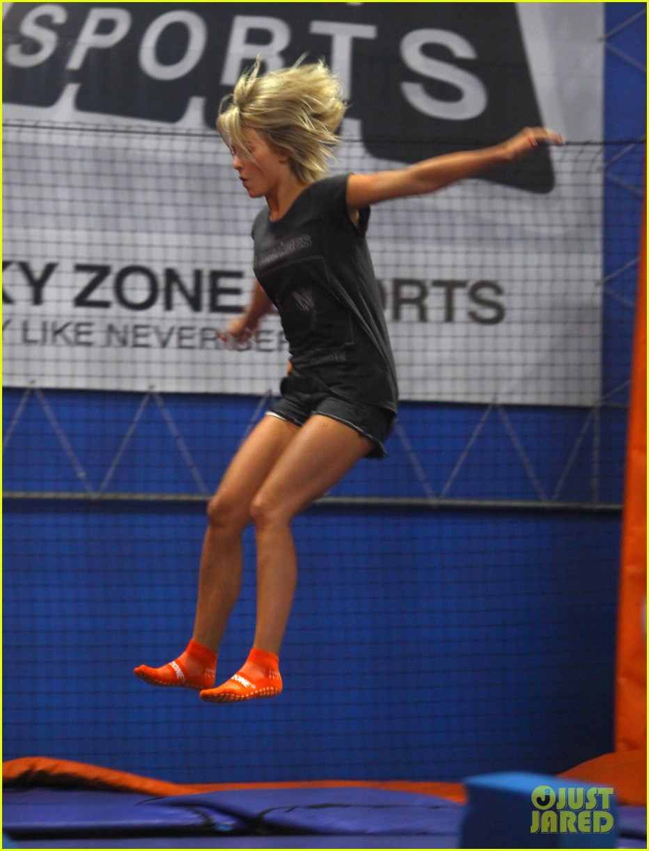 julianne hough tumbles in the air at trampoline park 102908434