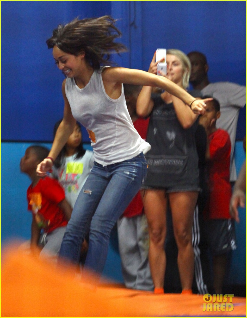 julianne hough tumbles in the air at trampoline park 28
