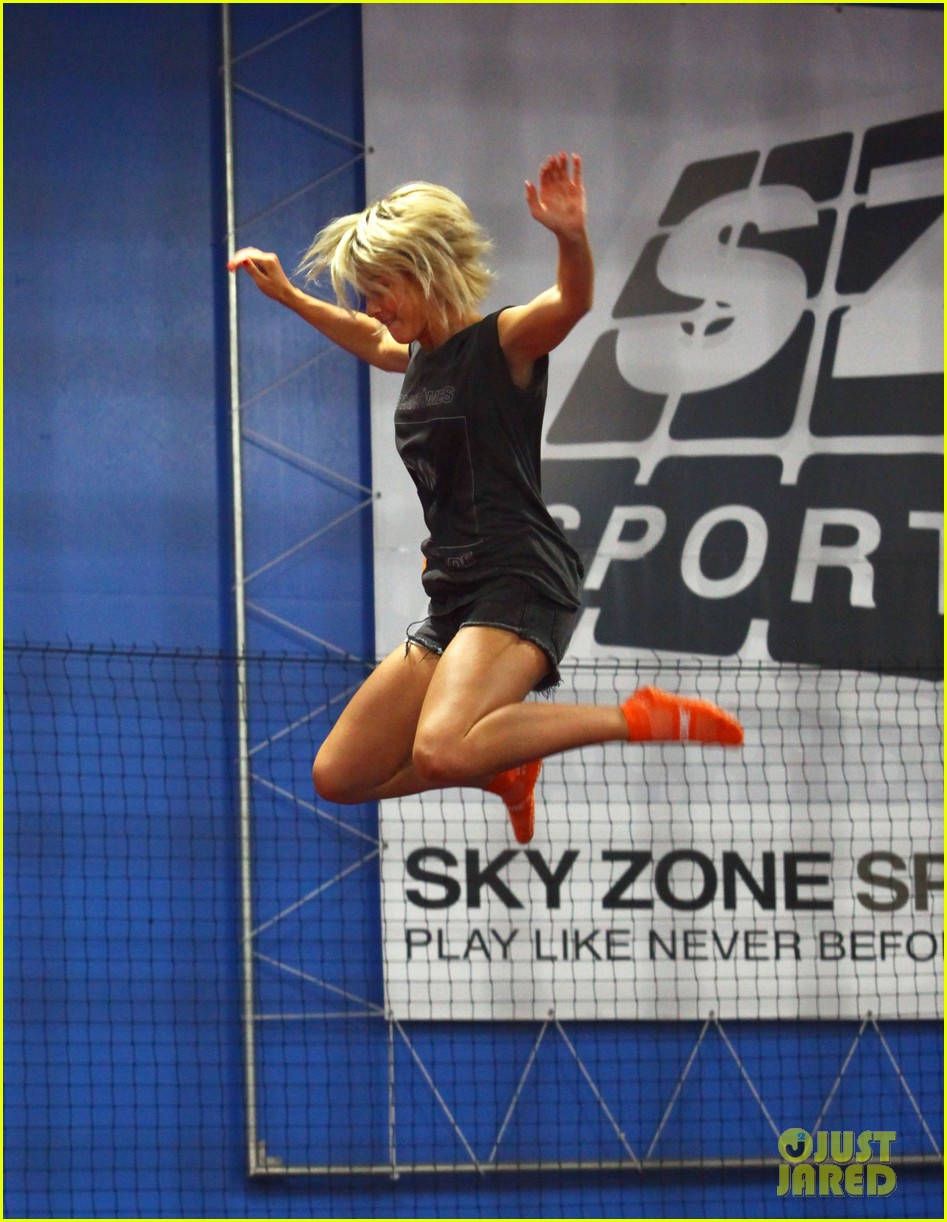 julianne hough tumbles in the air at trampoline park 30