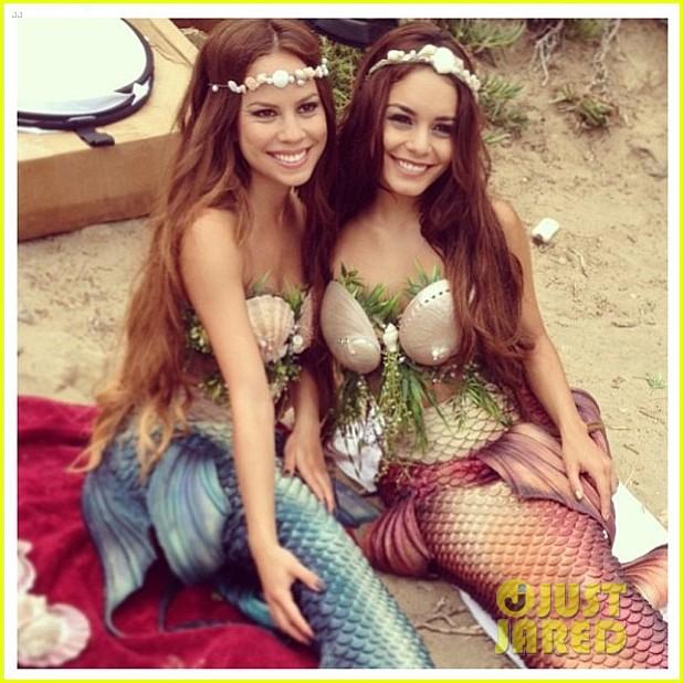 vanessa hudgens kim hidalgo are mermaids 032901995