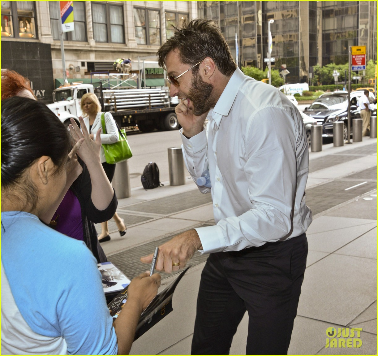 hugh jackman the wolverine press conference in nyc 102908821