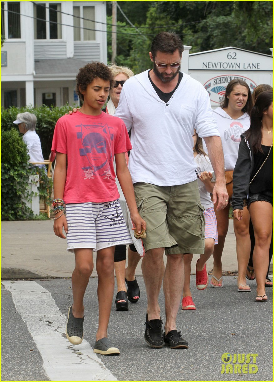 hugh jackman hangs with family wolverine hits theaters 07