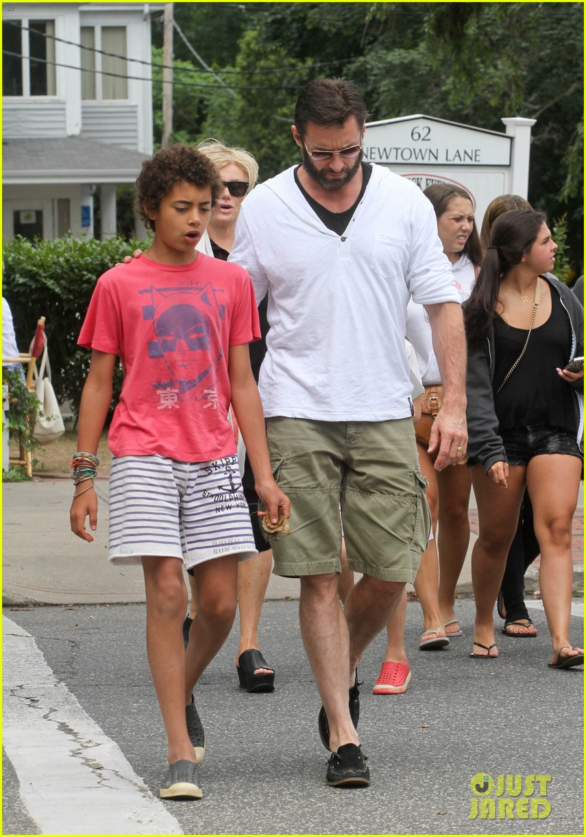 hugh jackman hangs with family wolverine hits theaters 082917606