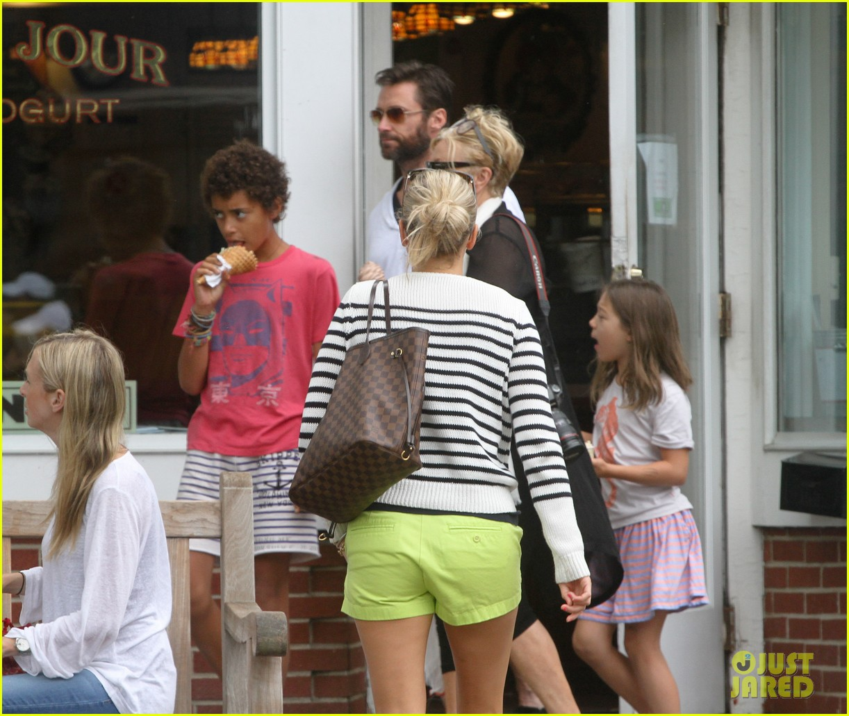 hugh jackman hangs with family wolverine hits theaters 132917611