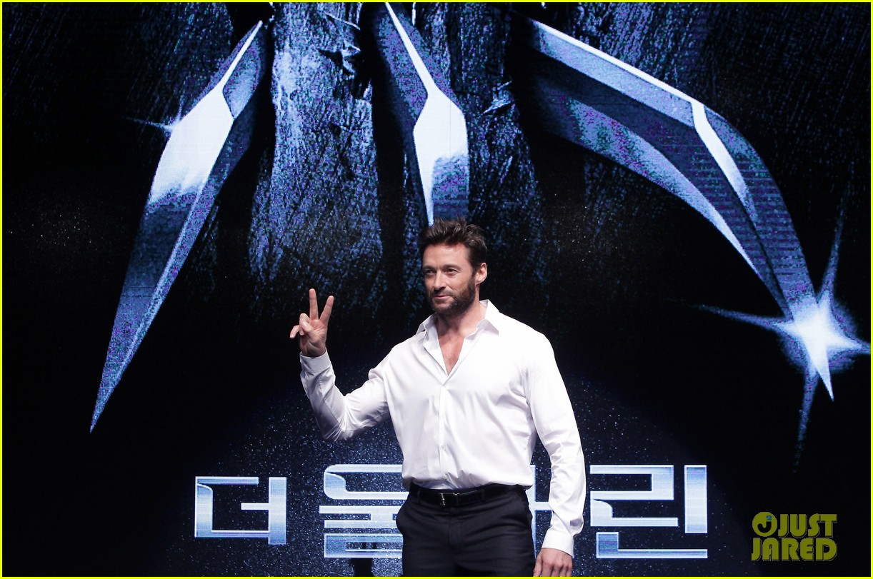 hugh jackman wolverine press conference in seoul 122909670