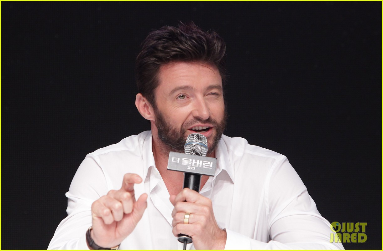 hugh jackman wolverine press conference in seoul 132909671