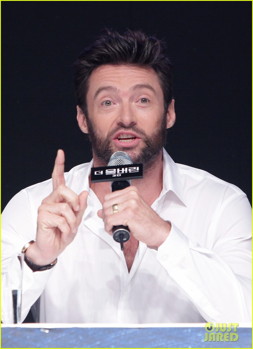 hugh jackman wolverine press conference in seoul 22