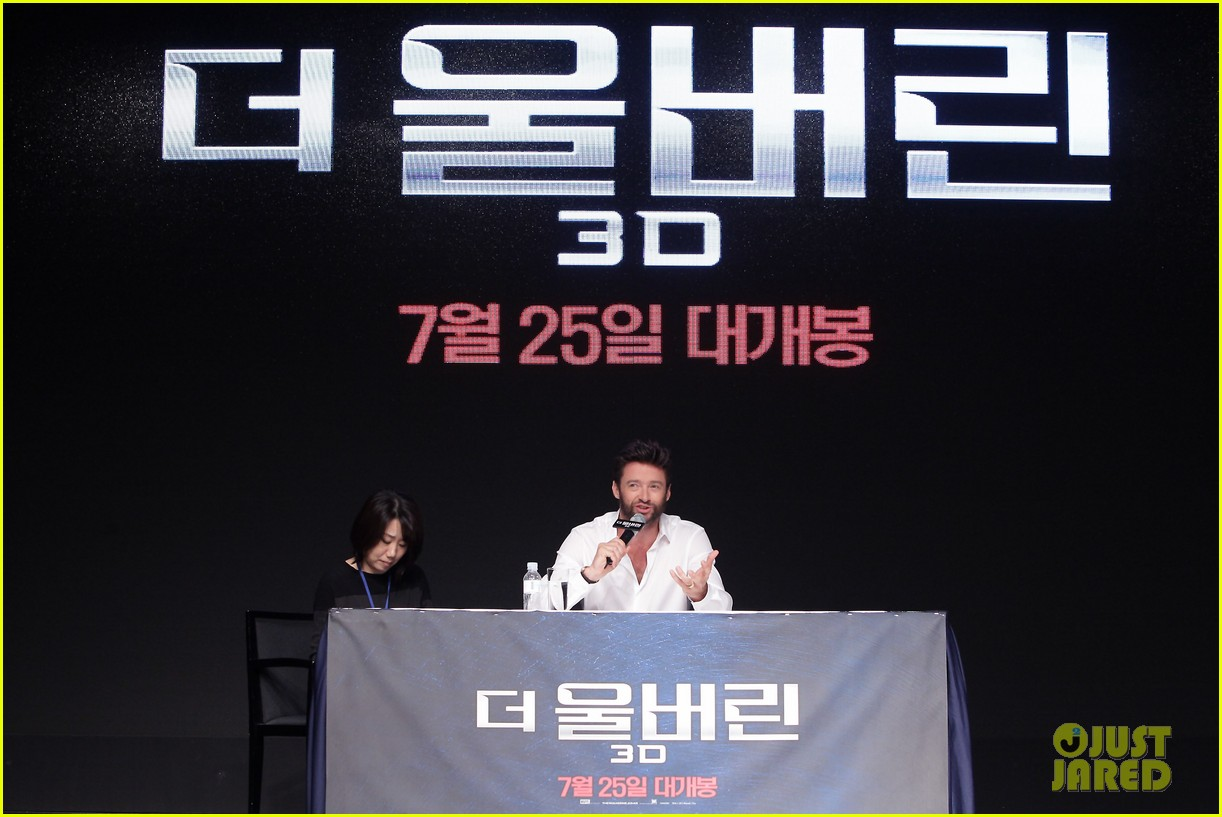 hugh jackman wolverine press conference in seoul 23
