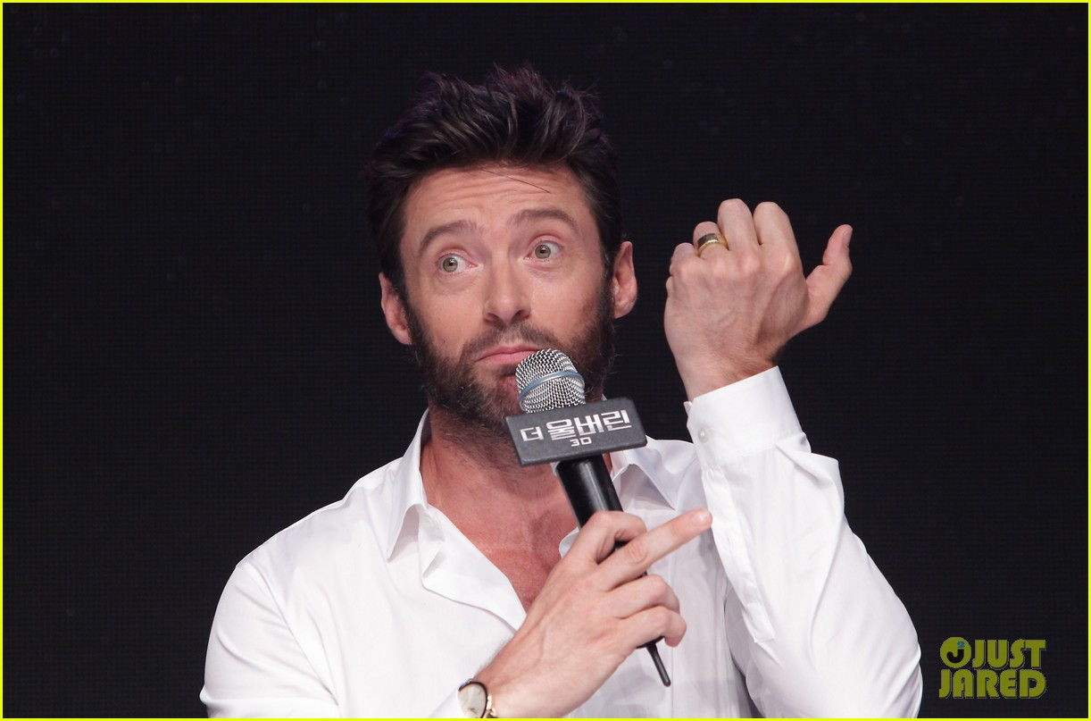 hugh jackman wolverine press conference in seoul 282909686