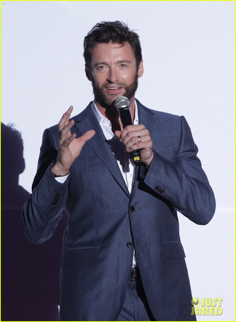hugh jackman the wolverine south korea premiere 12