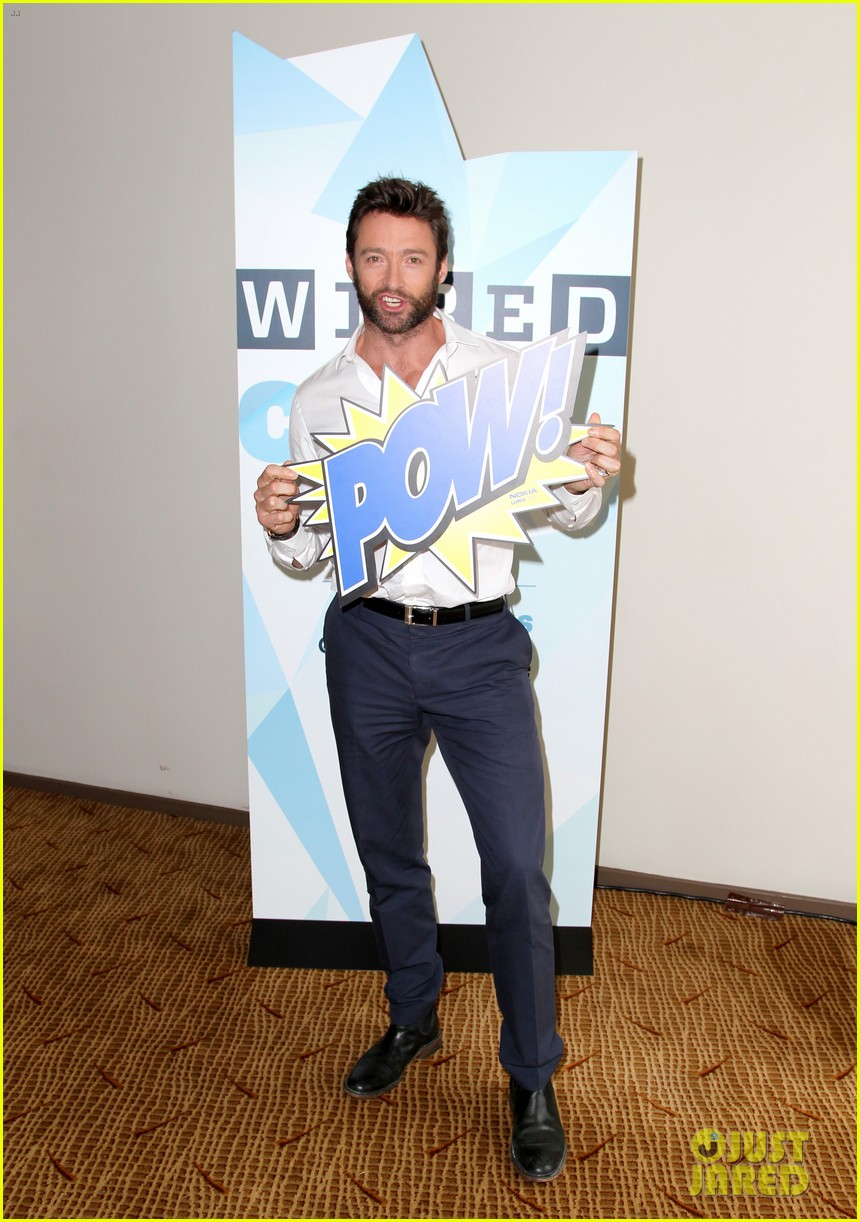 hugh jackman matt smith wired cafe at comic con 012913227