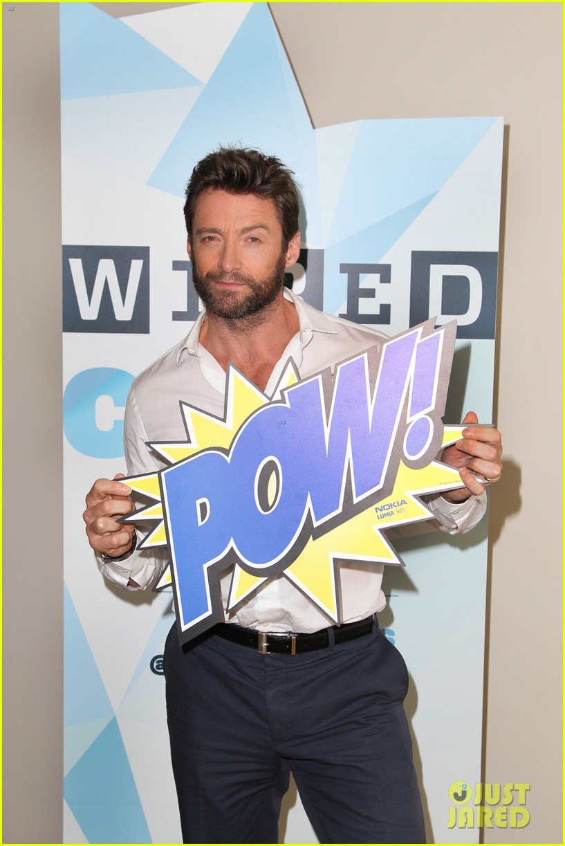 hugh jackman matt smith wired cafe at comic con 162913242