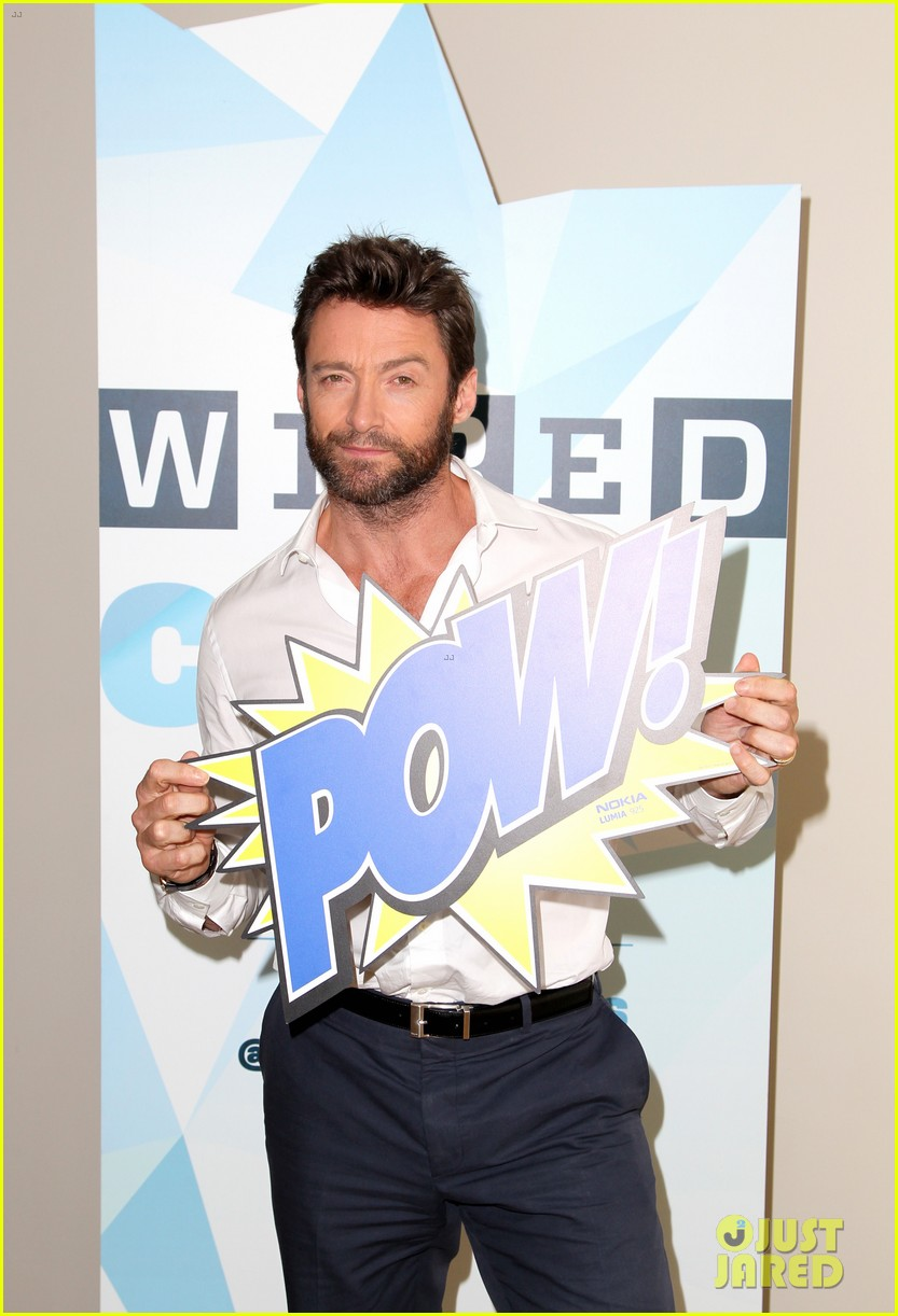 hugh jackman matt smith wired cafe at comic con 172913243