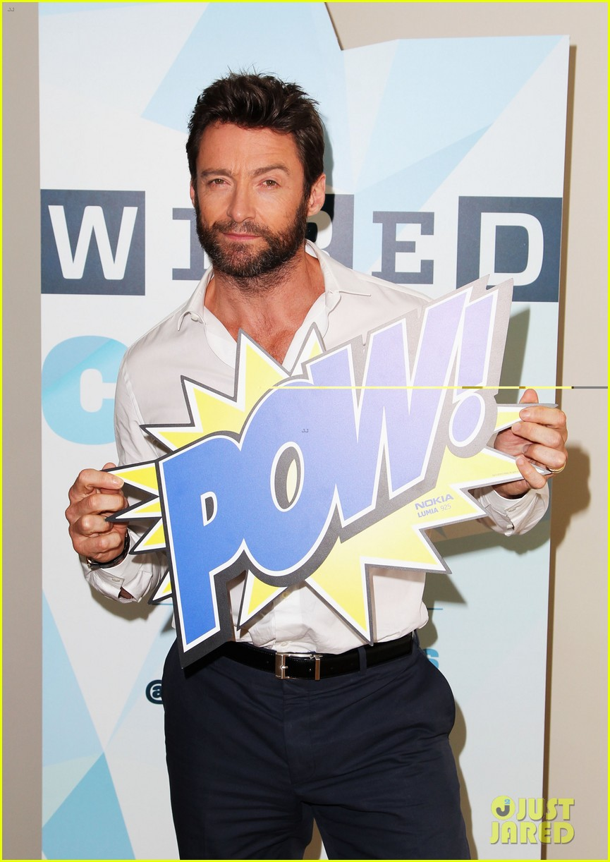 hugh jackman matt smith wired cafe at comic con 182913244