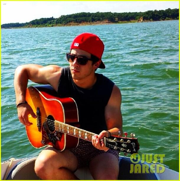 nick jonas goes shirtless in buff post workout photo 052920199