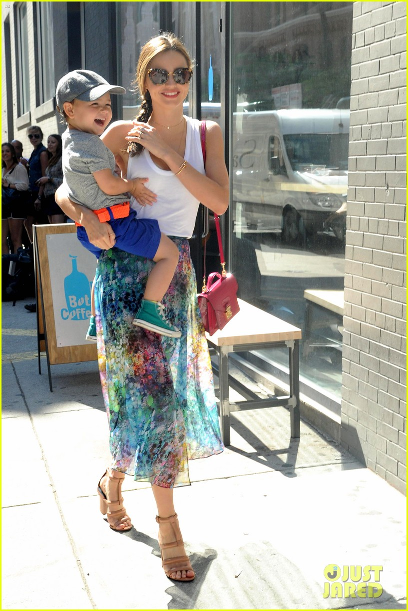 miranda kerr drops by milk studios with flynn 042905985