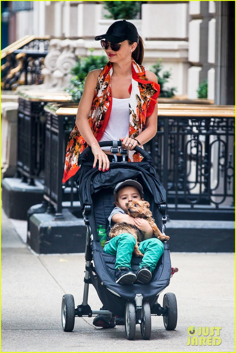 miranda kerr central park morning with flynn frankie 132917481