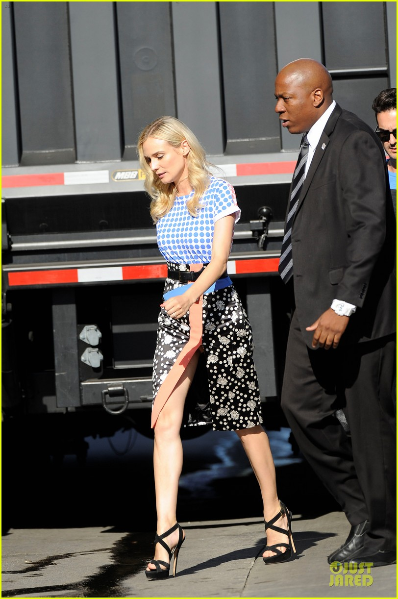 diane kruger the bridge promotion on jimmy kimmel live 032906819